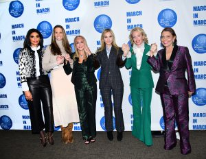 NEW YORK, NY - MARCH 08: Rachel Roy, Stephanie Winston Wolkoff, Barbara Winston, Michal Grayevsky, H.R.H. Princess Camilla of Bourbon Two Sicilies, Duchess of Castro and Muna Rihani Al-Nasser Pose at the UNWFPA Annual Awards Luncheon on March 8, 2018 in New York City. (Photo by Aurora Rose/Patrick McMullan via Getty Images)